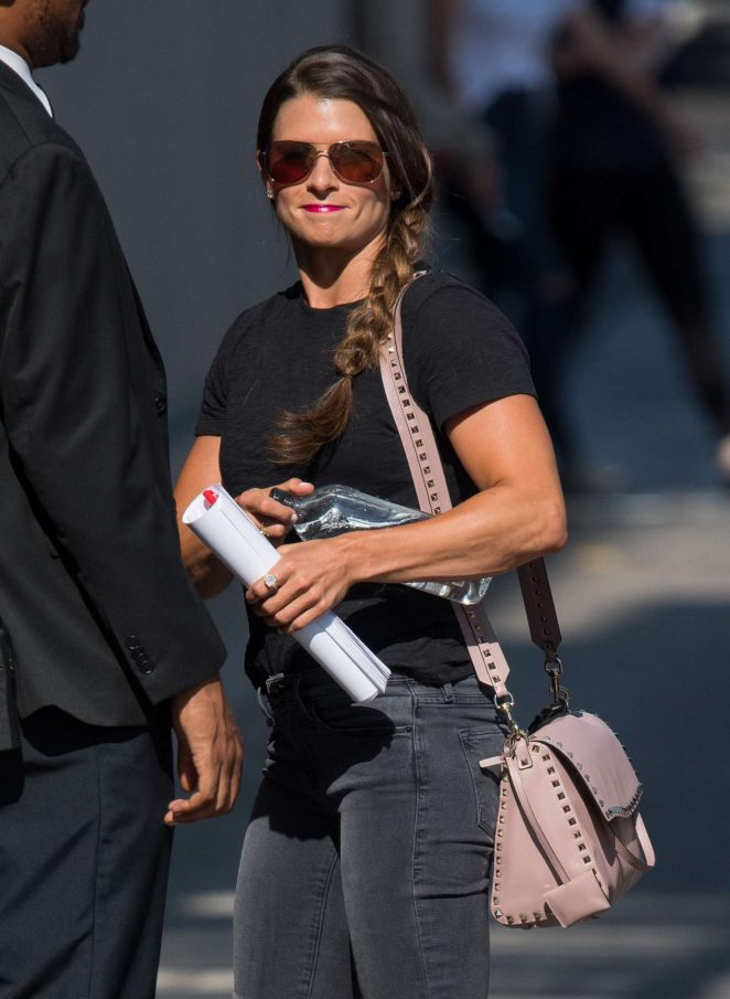 Danica Patrick - Arrives at Jimmy Kimmel Live in Hollywood