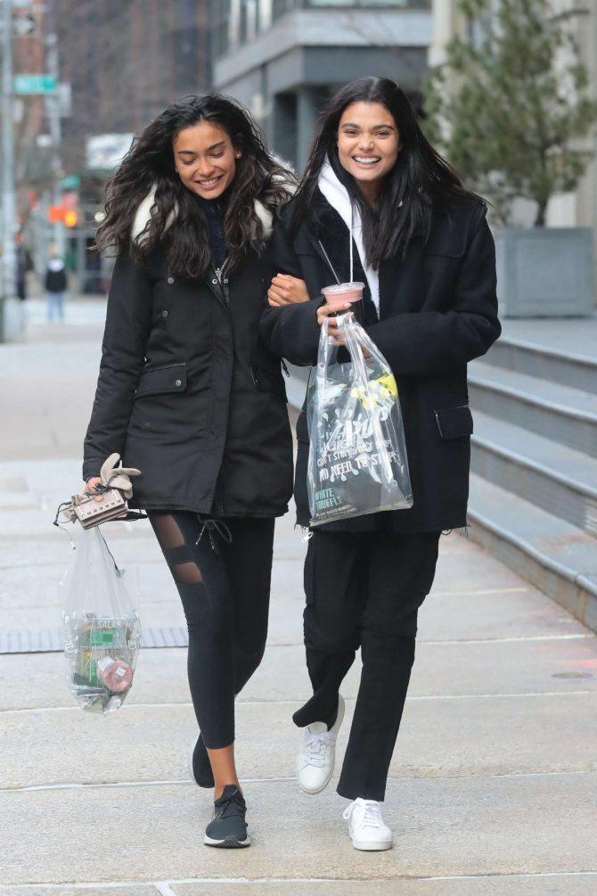 Daniela Braga and Kelly Gale – Shopping in New York