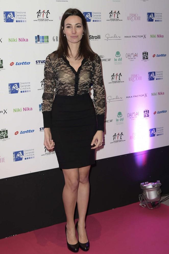 Daniela Virgilio at Premio Afrodite 2016 in Rome