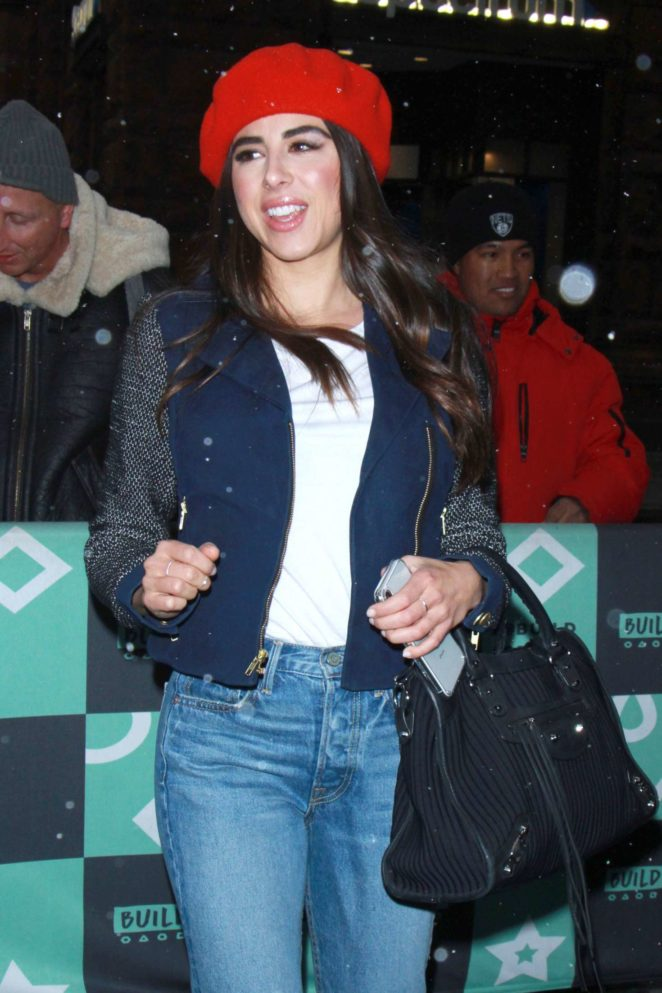 Daniella Monet in Jeans at AOL Build in NYC