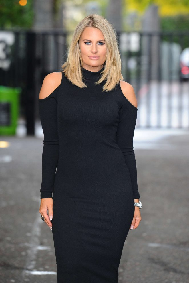 Danielle Armstrong at ITV Lorraine studios in London