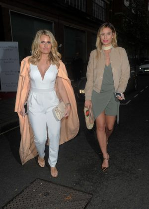 Danielle Armstrong & Ferne McCann Arrives at Jessica Wright Footwear SS16 Collection in London