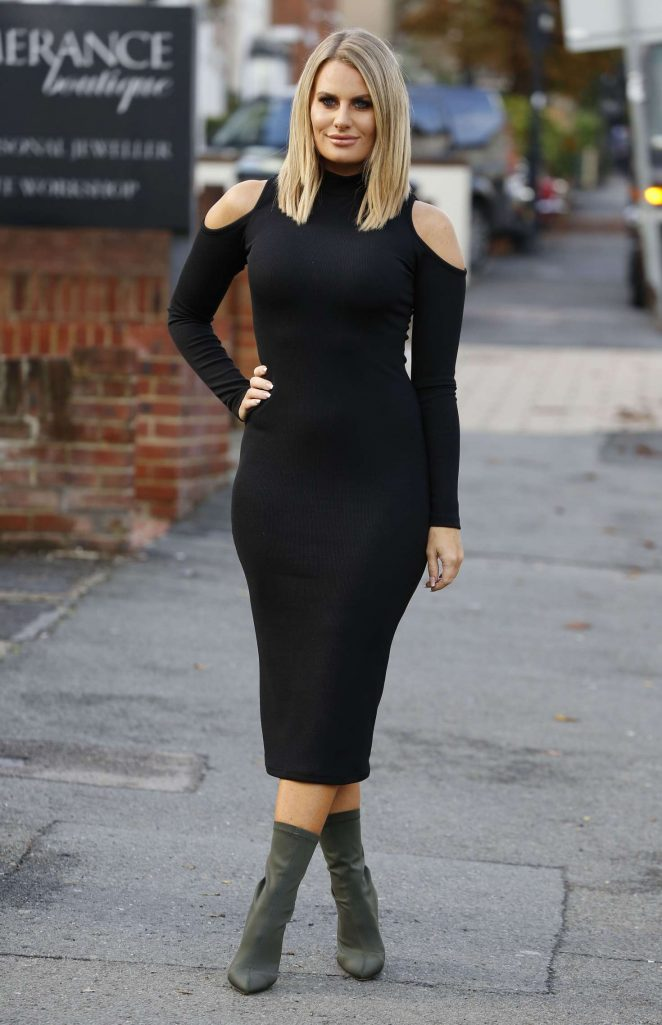 Danielle Armstrong - Films Scenes for TOWIE in Essex