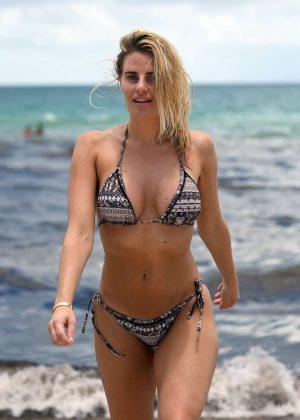 Danielle Armstrong in Bikini on the beach in Miami