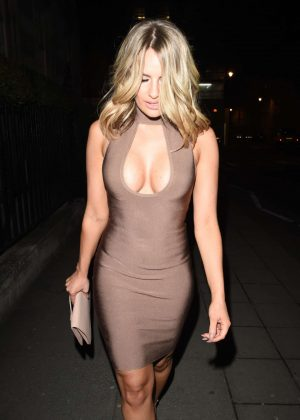 Danielle Armstrong in Tight Dress out in London