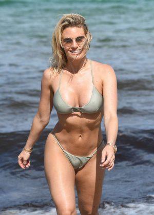 Danielle Armstrong in Tiny Bikini on the beach in Miami