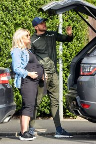Danielle Armstrong - Showing baby bump with Tom Edney in Essex