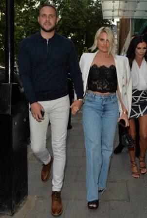 Danielle Armstrong - With boyfriend Tom Edney seen leaving Amazonico restaurant
