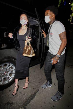 Danielle Bregoli - Arrives for dinner with her boyfriend in Los Angeles