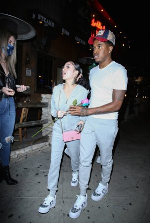 Danielle Bregoli with her boyfriend at Saddle Ranch in West Hollywood
