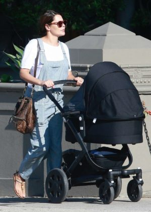 Danielle Bux - With baby Romy Wren on a stroll in West Hollywood