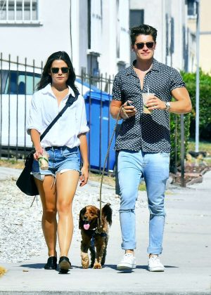 Danielle Campbell and Gregg Sulkin in Los Angeles