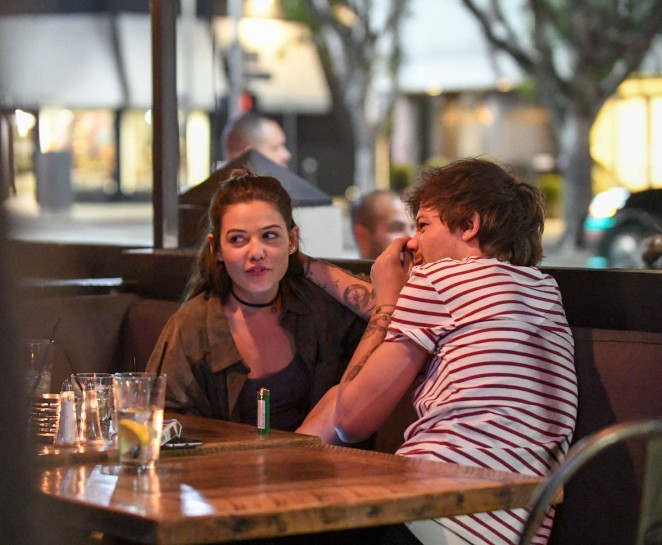 Danielle Campbell and Louis Tomlinson at a romantic dinner in West Hollywood