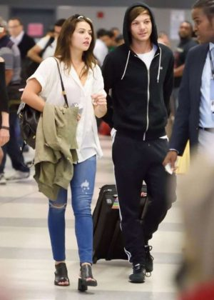 Danielle Campbell and Louis Tomlinson at JFK Airport in NYC
