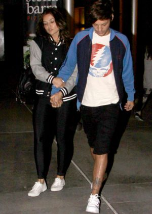 Danielle Campbell and Louis Tomlinson - Leaving Arclight Cinemas in Hollywood