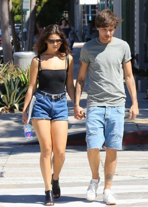 Danielle Campbell And Louis Tomlinson Shopping In West