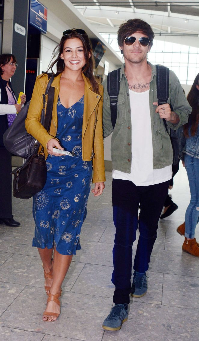 Danielle Campbell at Heathrow Airport in London