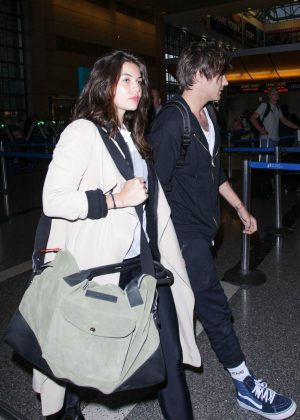Danielle Campbell at LAX Airport in Los Angeles