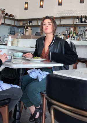 Danielle Campbell - Having lunch with a friend in West Hollywood