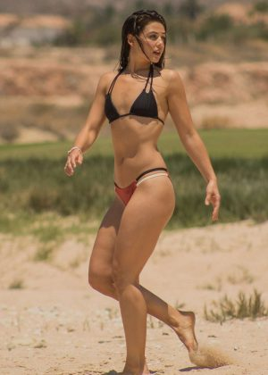 Danielle Campbell in Bikini on vacation in Cabo