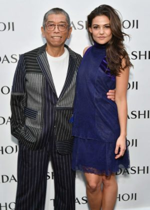 Danielle Campbell - Tadashi Shoji fashion show - 2017 New York Fashion Week in NYC