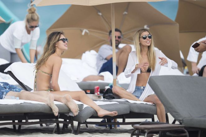 Danielle Knudson and Jocelyn Chew on the beach in Miami