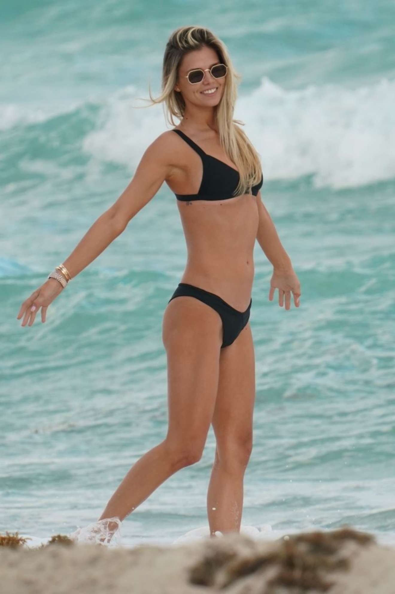 Danielle Knudson - Bikini Candids at A Beach In Miami
