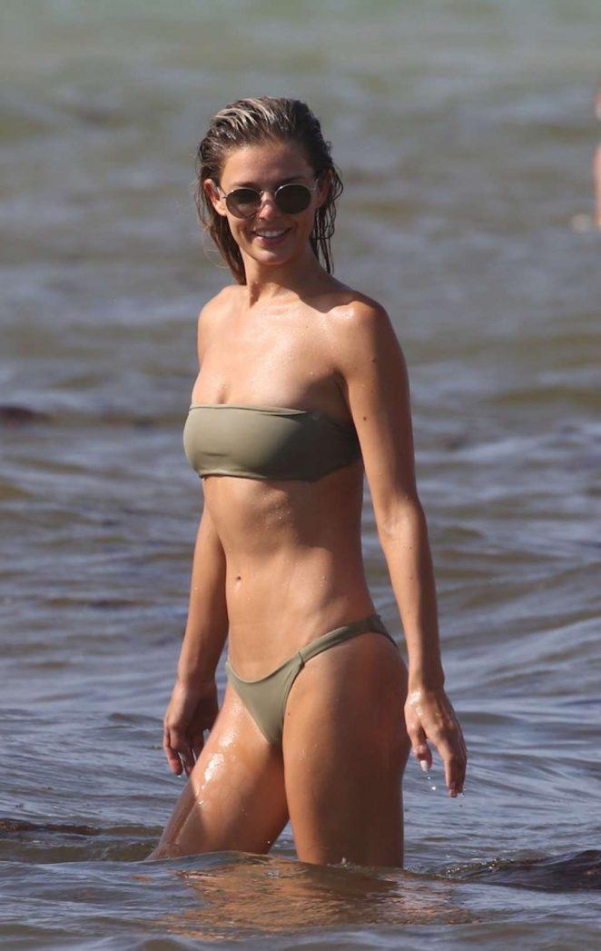 Danielle Knudson in Bikini at the beach in Miami