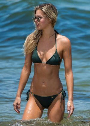 Danielle Knudson in Bikini on the beach in Miami