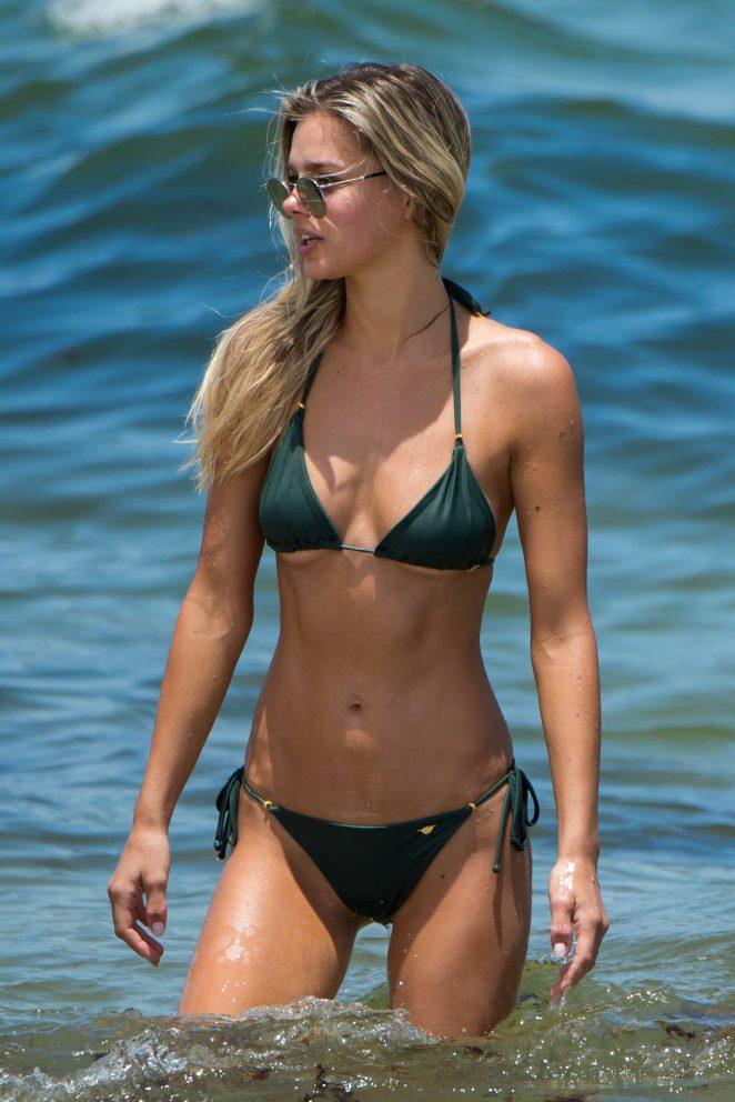 Danielle Knudson in Bikini on the beach in Miami