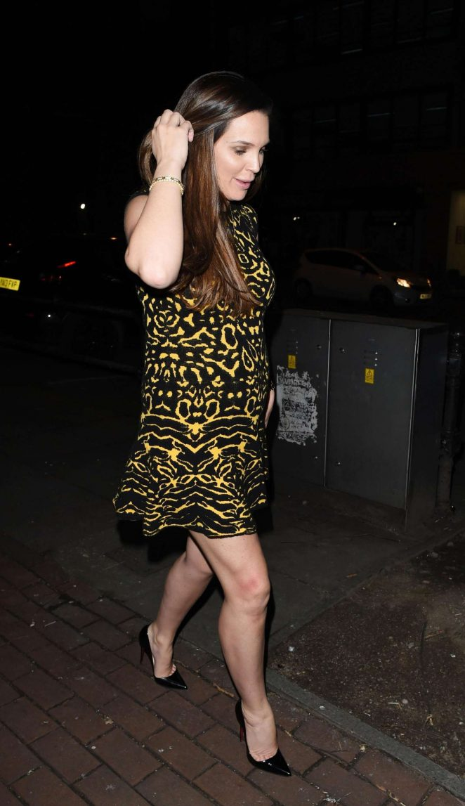 Danielle Lloyd at Wings Restaurant in Manchester