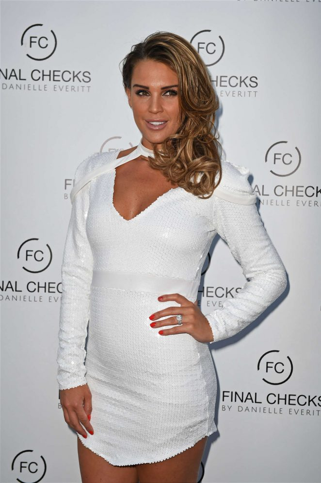 Danielle Lloyd - Final Checks VIP Launch Party in Essex