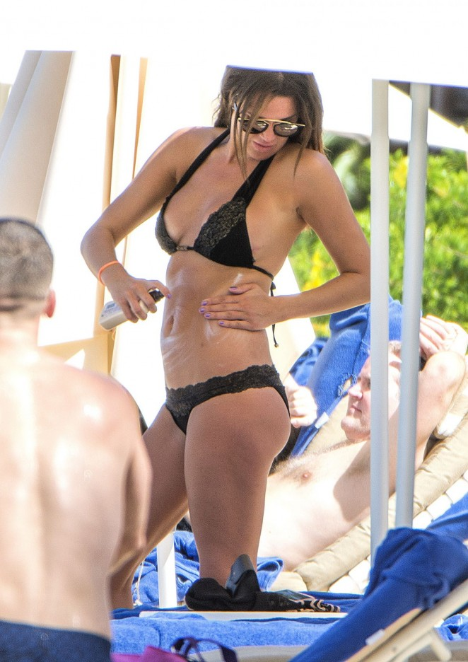 Danielle Lloyd In Bikini In Barbados