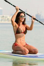 Danielle Lloyd in Bikini - Paddleboarding in Dubai