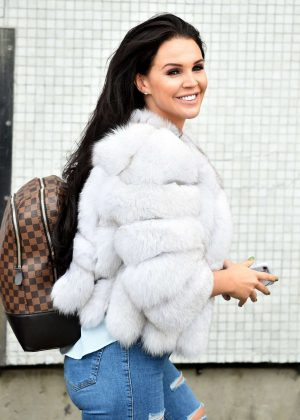 Danielle Lloyd in Jeans - ITV Studio in London
