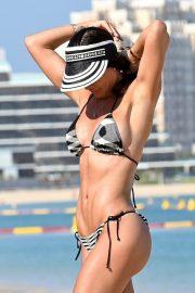 Danielle Lloyd - Playful on the Beach in Dubai