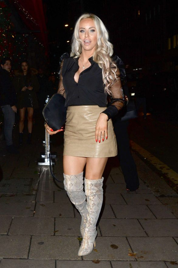 Danielle Mason at Novikov Restaurant and Bar in London