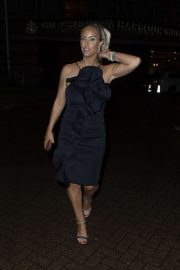 Danielle Mason - Seen at Chelsea Harbor Hotel in London
