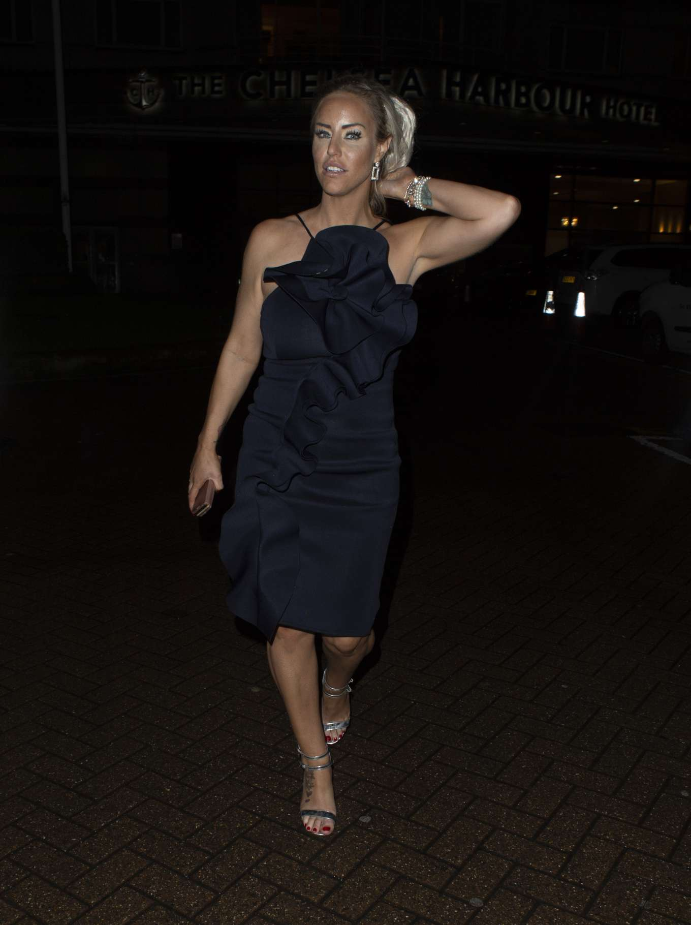 Danielle Mason - Seen at Chelsea Harbor Hotel in London