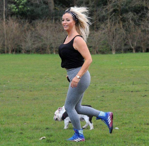 Danielle Mason - Seen in the park during coronavirus lockdown in London