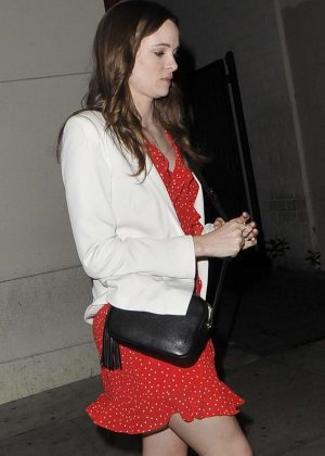 Danielle Panabaker - Leaves Craig's in West Hollywood