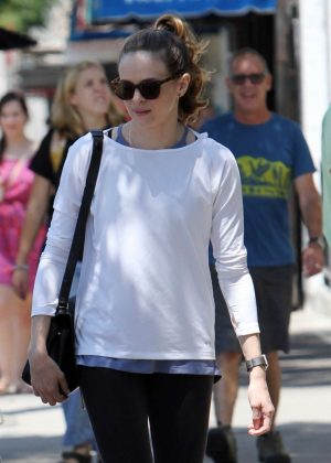 Danielle Panabaker Leaving Joan's on Third in Los Angeles