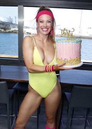 Danielle Sarve in Swimsuit - Celebrates her 30th Birthday in LA