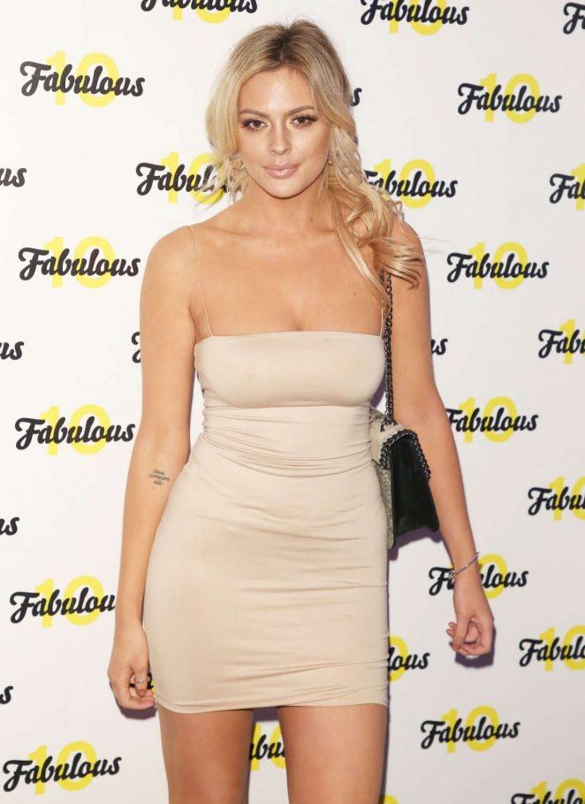 Danielle Sellers - Fabulous Magazine 10th Birthday Party in London