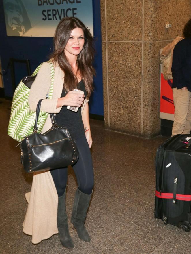 Danielle Vasinova - Arriving at SLC Airport for Sundance Film Festival