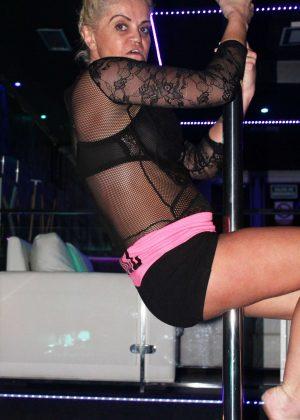 Danniella Westbrook at Pole Dancing in Marbella