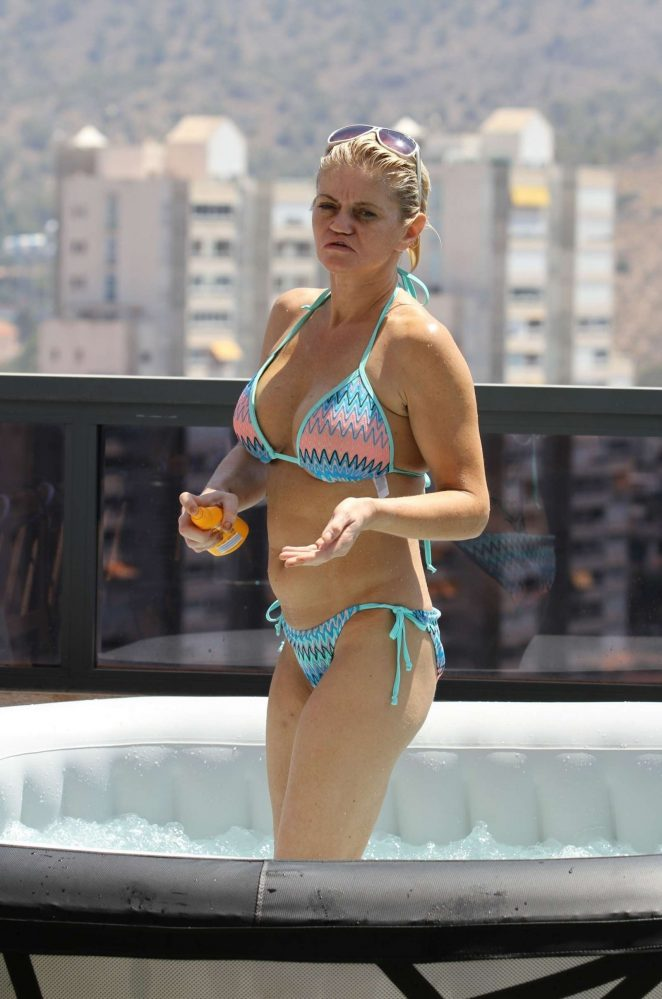 Danniella Westbrook in Bikini on holiday in Spain