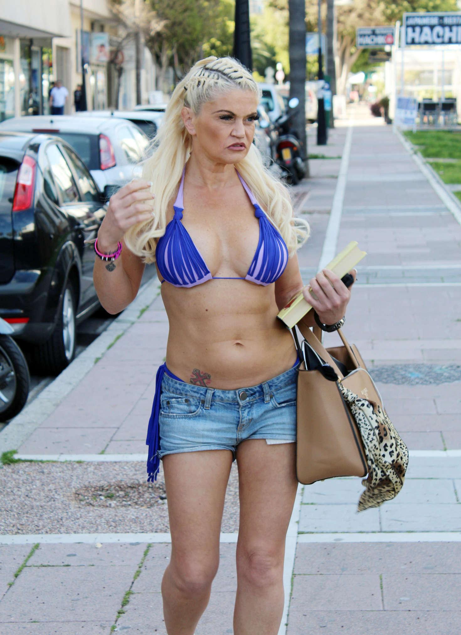 Danniella Westbrook Leaving Tantrum Beauty Salon In Marbella