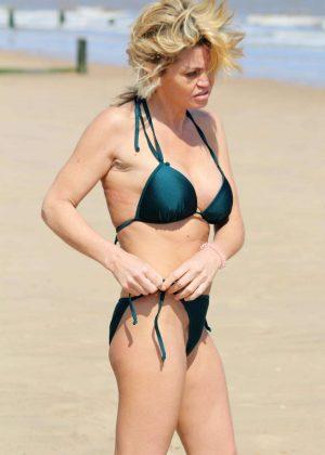 Danniella Westbrook - Wearing Green Bikini in Frinton-on-Sea
