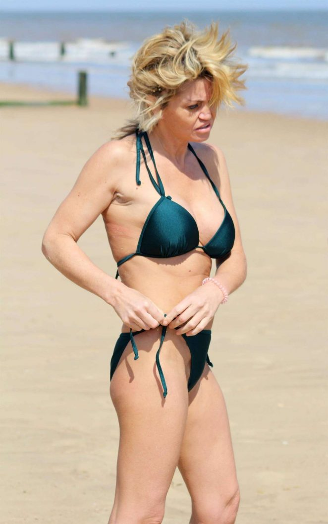 Danniella Westbrook – Wearing Green Bikini in Frinton-on-Sea